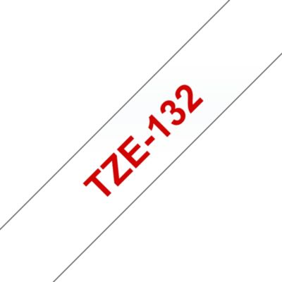 Brother Brother TZe-132 Schriftband rot auf farblos 12mm x 8m P-touch selbstklebend