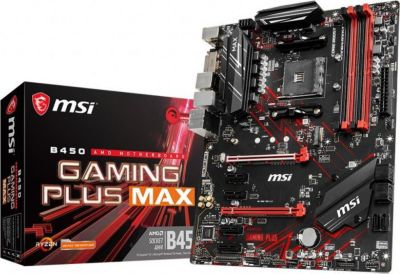 MSI MSI B450 Gaming Plus Max ATX Mainboard Sockel AM4 M.2/DVI/HDMI/USB3.2