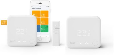 tado tado° Smart Thermostat Starter Kit V3+ mit 2 Raumthermostaten & Bridge