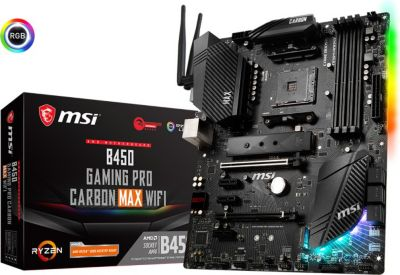 MSI MSI B450 Gaming Pro Carbon MAX WiFi ATX Mainboard Sockel AM4 DP/HDMI/WLAN/BT