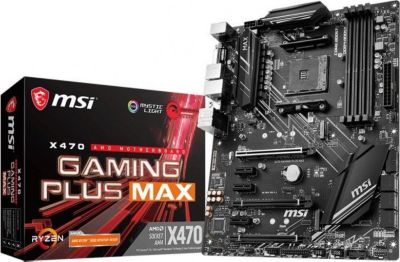 MSI MSI X470 Gaming Plus Max SATA600/R/M.2/USB3.2 ATX Mainboard Sockel AM4
